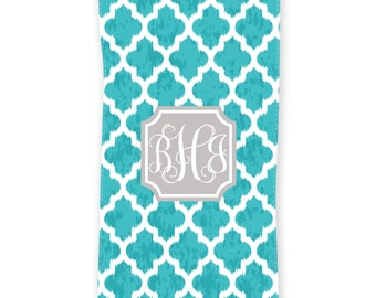 Moroccan Ikat Personalized Beach Towel, Monogrammed Beach Towel, Bath Towel, Custom Beach Towel, Personalized Towels, Trendy Birthday Gift