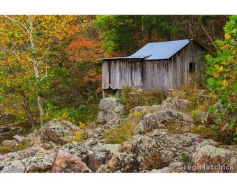 Fine Art Color Photography of Old Klepzig Mill on Mill Mountain in the Missouri Ozarks