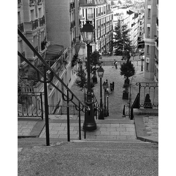 Fine Art Black & White Photography of Stairway on Montmartre
