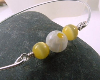 Yellow Jewelry, Yellow Bracelet, Yellow Sunshine Bracelet, Summer Jewelry, Yellow Bangle Bracelet, Bridesmaids Gifts, Ask Questions