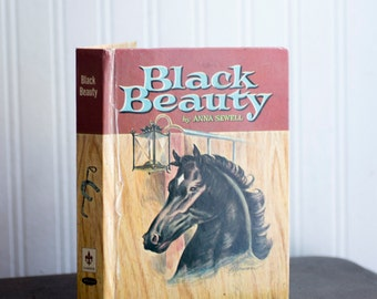 Vintage Black Beauty Book - 1955 Edition - Childrens Book- Horse Book - Whitman Publishing Company