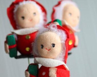 Vintage Christmas Decorations, Xmas Wreath Supplies, Snowman, Teddy Bear, Elves Elf, Mrs Clause, Christmas Supplies, Floral Arrangement,