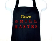 Grill Master Apron, Personalized With Name, For Hubby, Boyfriend, Dad, Husband, Boss, No Shipping Charges, Ready To Ship TODAY,  AGFT 420