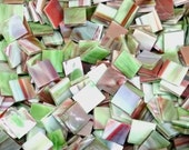 "100 1/2"" Garden Salsa Stained Glass Mosaic Tiles"