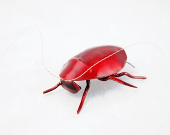 2 inch Shell Red Roach Copper Metal Wall Sculpture
