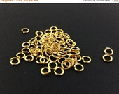 75% OFF - 1000pcs Wholesale Jump Rings - 5mm Gold Jump Ring Findings - 20 gauge - Nickel Free Lead Free Open Jumprings - Gold Jewelry Findin