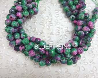 37 pcs 10mm faceted round Multi color agate beads