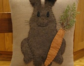 Furry Bunny Rabbit  Pillow...3 Dimensional