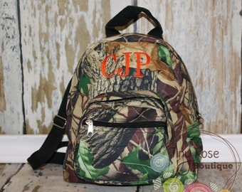 Toddler Boy Realtree Backpack - Personalized School Bag, Book Bag, Mini Backpack