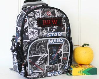 Baby Backpack With Monogram Pottery Barn (Mini Size) -- Allover Star Wars