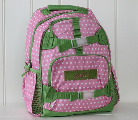 Pottery Barn Personalized Backpack: Large Pottery Barn Backpack With Monogram Large Size