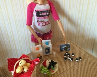 Doll Muffins and Snacks