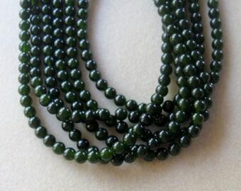 Dark Green Jade, Round Beads, Gemstone Beads, Craft Supplies, Jade Beads, Jewelry Making Beads, Jewelry Design, Bead Supply, Jewelry Supply