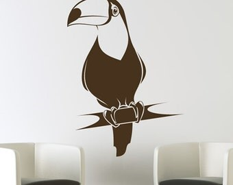Beauty Hornbill Bird----Removable Graphic Art wall decals stickers home decor