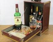 Unique Vintage Up-Cycled Mini Bar - Liquor Cabinet