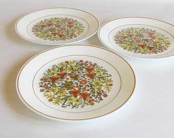 "Corning Corelle ""Indian Summer"" Dinner Plates - 10"" Plates - Set of 3"