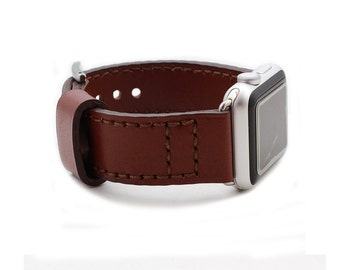 Baseball Glove CHESTNUT Leather Watch Strap for Apple Watch (Free Personalization)