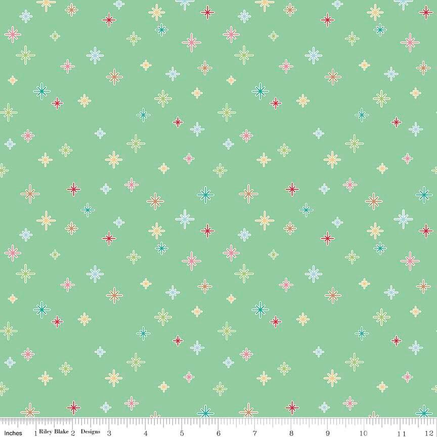 Cozy christmas fabric lori holt fabric riley blake for Star fabric australia