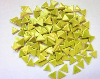 Micro Mosaic Tiles 1/2inch-100-Ceramic mosaic tile, Micro triangles - Handmade