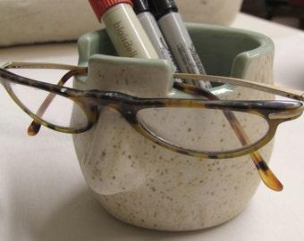 Eyeglass Holder Eyeglass Holder  Ceramic Pottery Pencil Cup Handmade Pottery Gift Brush Holder Handmade Stoneware Mint  Eye Glass Holder