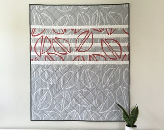 Modern Baby Quilt | Pistachio Quilt | Whole-Cloth Quilt | Cheater Quilt | Playmat | Gray and White Quilt