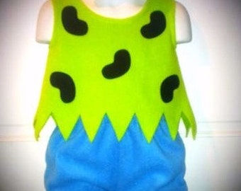 New 12/18M Flintstones Pebbles Halloween Costume Set Boutique PAGEANT