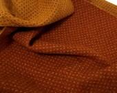 Fat Quarter Textured Wool - Pumpkin and Spice - 100% Wool