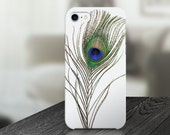 Peacock Feather Cell Phone Case -  IPHONE 6, 6S, 6 Plus, 6S Plus / Samsung Galaxy S6 Edge, S6, S7 -made to order