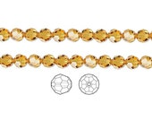 Swarovski Crystal Beads Topaz 5000 Faceted Round 8mm Package of 12