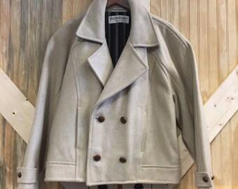 Vtg Yves Saint Laurent YSL Wool Coat