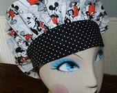 NEW  Old Fashion Mickey and Minnie Comics  Banded Bouffant Surgical Cap /Bakers Cap
