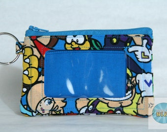 Nintendo Mario and Friends Inspired Mini ID Wallet/Coin Purse