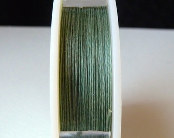 Power Pro Beading Thread - Moss Green - .009, 20 lb test - 28 yard spool - Super Strong Non-Stretch Braided Thread
