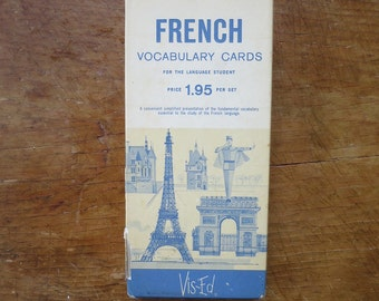 Vintage French Vocabulary Flashcards