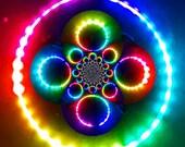 RAINBOW BLAST Strobe LED Hula Hoop