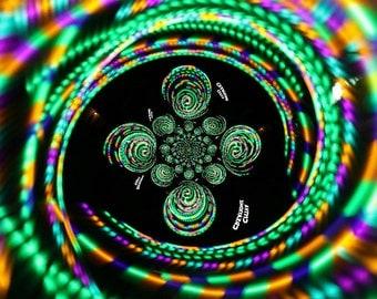 Hypnotic Strobe LED Hula Hoop