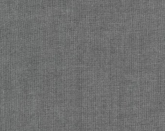 Grey Rayon Chambray, Rayon Chambray Collection by Robert Kaufman, 1 Yard
