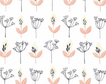 Coral Yellow and Blake Floral Pod Fabric, Desert Bloom by Rae Ritchie Collection for Dear Stella, Pod Floral Multi, 1 Yard
