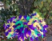 Feather tutu, custom tutu, feather dress, costume, dress up, tulle tutu, mardi gras tutu, mardi gras feather tutu, feather tutu,