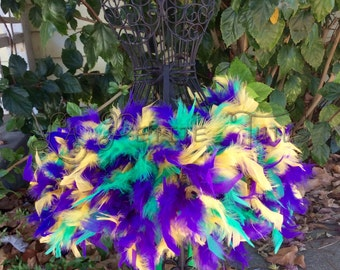 Feather tutu, custom tutu, feather dress, costume, dress up, tulle tutu, mardi gras tutu, mardi gras feather tutu, feather tutu,