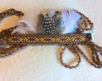Indian headress, infant, newborn, baby, native, american, embroider, headband, native, feathers, headdress, native american, baby photo prop