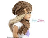 "Download Now - CROCHET PATTERN 18"" Doll Madison Slouchy Beanie"