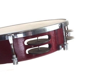 Vintage Wooden Tambourine