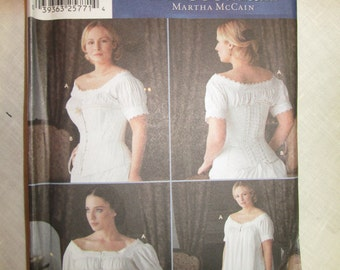 Simplicity 7215 Fashion Historian 1860's Corset and Chemise pattern * size HH (6,8,10,12)*