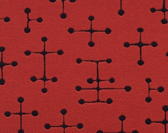 Eames LARGE Dot Red - New, Authentic Large Dot Pattern - Red and Black - 2 Pcs. Avail. READ LISTING