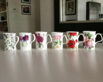 Roy Kirkham Porcelain Mugs/Vintage Bone China Mugs/ English Rose/Monet/Bone China/Rose of England/ Redoute Roses/Springfield/ By Gatormom13
