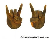 Rock On Hands Metal Wall Hanging Signs