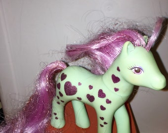 vintage 1989 Hasbro made in china conclave foot Starflash my little pony glittery Sweetheart Sisters pony RAD