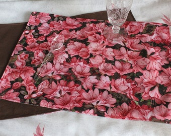 "Placemat from ""Azalea Blossoms"" fabric by Martha Flood Design"
