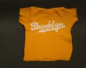 Sale!  BROOKLYN baby Lap T-Shirt Mandarin Orange FREE Domestic SHIPPING